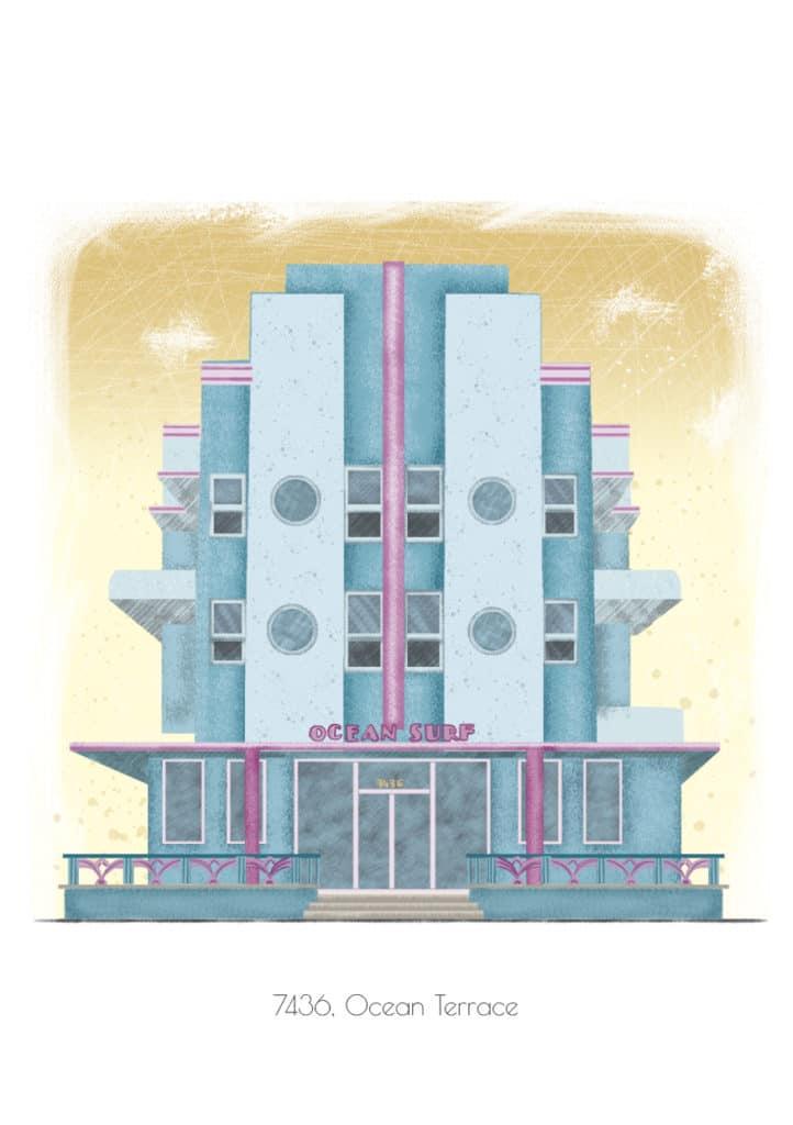 Miami Art Deco illustration