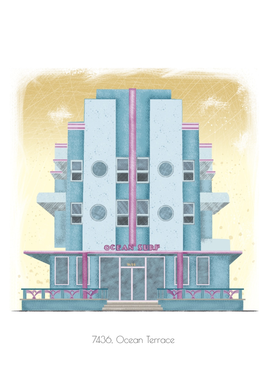 Miami Art Deco illustration
