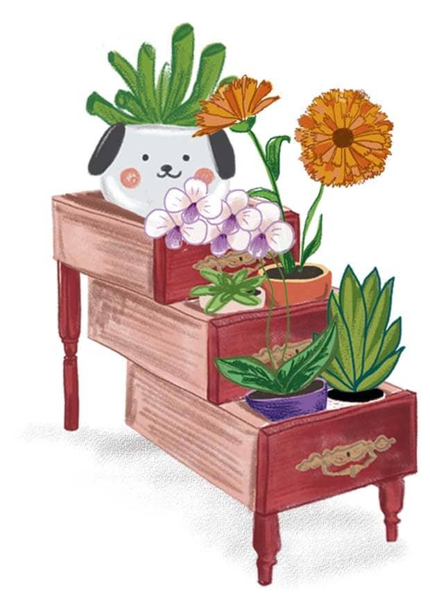 parada flore ilustracion fallas